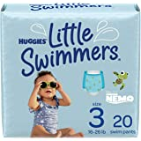 Swim Diapers, Size 3 Small, Huggies Little Swimmers Disposable Swimpants, 20 ct