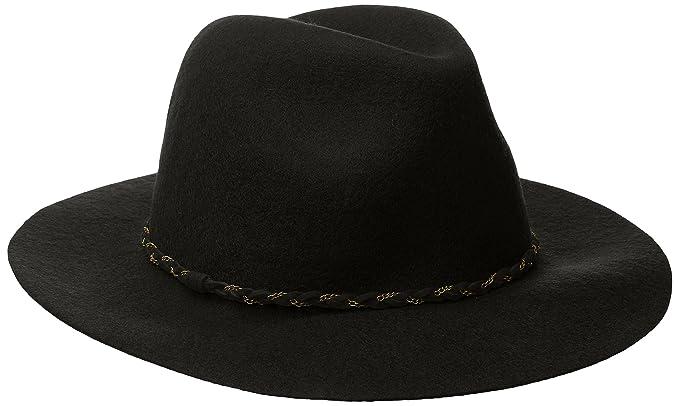ba3eb6f9 Nine West Women's Felt Rancher Hat, Black One Size at Amazon Women's ...