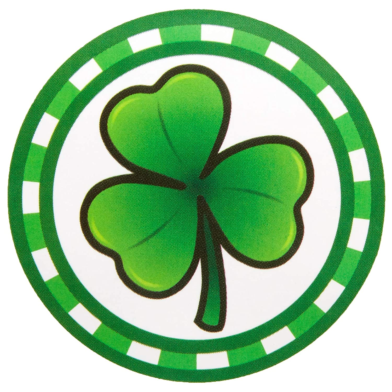 St Irish Shamrock Patrick/'s Day Self Adhesive Sticker Roll 1.5 in, 500 Pack
