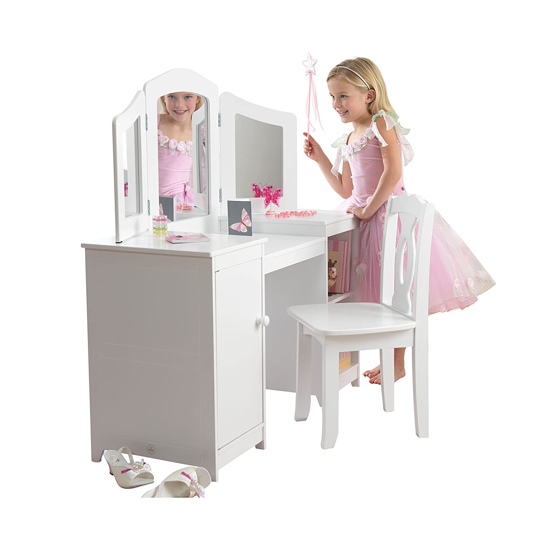 Amazon.com: KidKraft KKR13018 Deluxe Vanity & Chair Toy: Kitchen