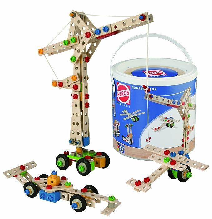61 opinioni per Simba HEROS 100039038- Constructor per Costruire 9 Modelli di Veicoli, 170 Pezzi