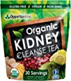 Organic Kidney Cleanse Tea - 4 Superfoods To Mix In Smoothie or Drink - Matcha Green Tea, Cranberry, Lemon, Ginger - Detox Health Supplement Powder - Vegan, Non GMO, Gluten Free - 30 Servings