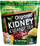 Organic Kidney Cleanse Tea - Love How You Feel Or You Lose Nothing. Natural Detox Supplement Powder For Smoothie or Drink - Matcha Green Tea, Cranberry, Lemon, & Ginger - Vegan, Non GMO, & Gluten Free