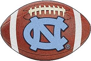 FANMATS NCAA UNC University of North Carolina - Chapel Hill Tar Heels Nylon Face Football Rug