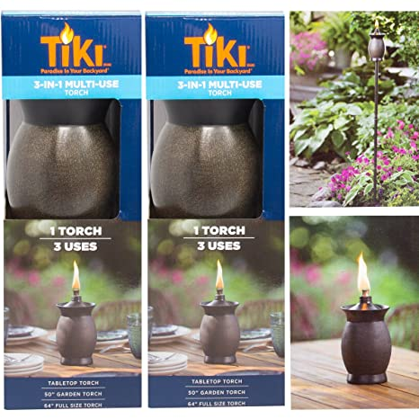 Amazon tiki 3 in 1 torches 8 outdoor table lamp 50 garden tiki 3 in 1 torches 8 outdoor table lamp 50 garden torch aloadofball Image collections