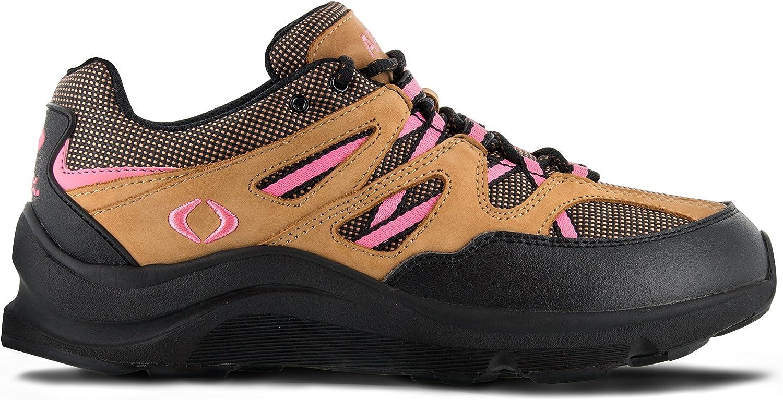 Apex Women's Sierra Trail Runner Hiking Shoe Sneaker Brown/Pink
