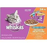 WHISKAS TENDER BITES Favorite Selections Variety Pack Wet Cat Food 3 Ounces (Pack of 24)