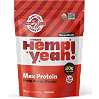 Manitoba Harvest Hemp Yeah! Organic Max Protein Powder, Unsweetened, 32oz; with 20g protein and 4.5g Omegas 3&6 per…