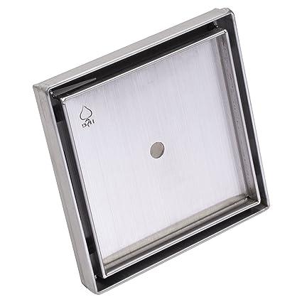 Bai 0577 Tile Insert Stainless Steel Square Shower Drain 5 X 5