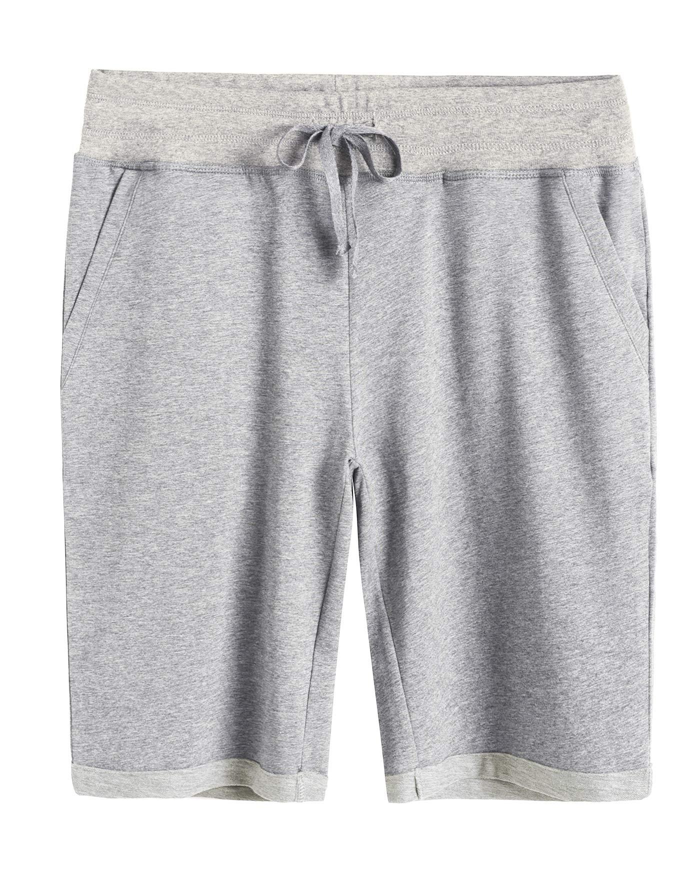 Weintee Women's Cotton Bermuda Shorts with Pockets 3X Oxford Gray by Weintee