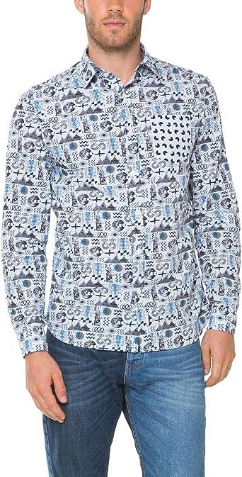 Desigual Xavier Camisa, Blau (Skyway 5133), Medium para Hombre: Amazon.es: Ropa y accesorios