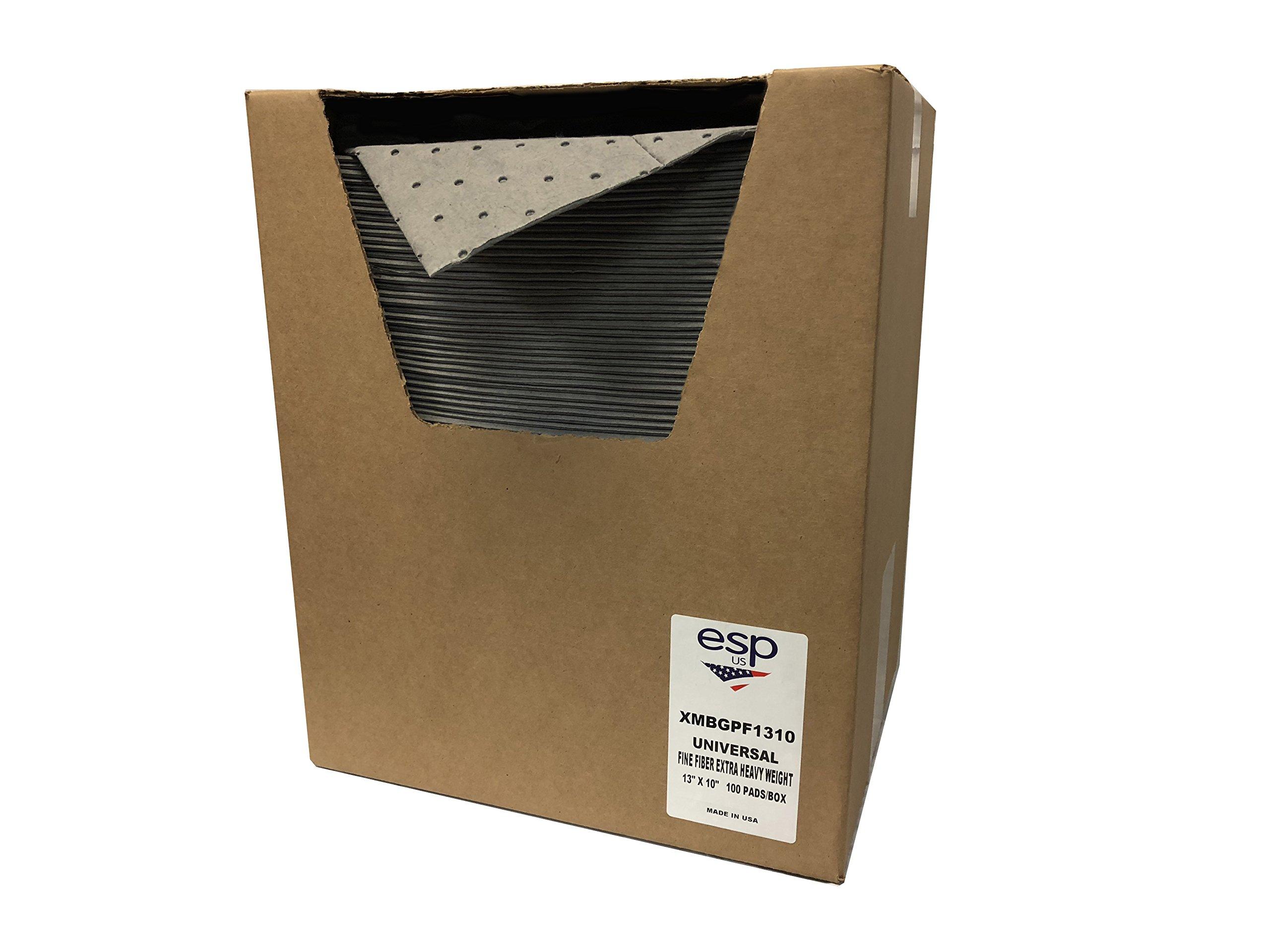 Evolution Sorbent Products XMBGPF1310 Extra Heavy Absorbent, 12 Gal Capacity, Polypropylene, Gray Pad (13'' x 10'') 100/Box