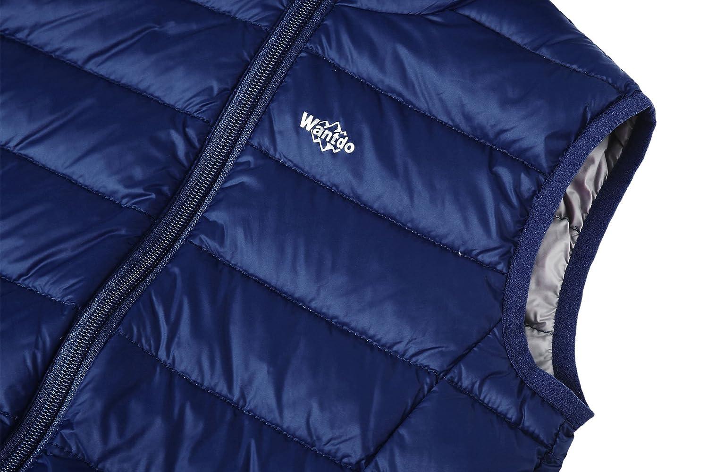 Wantdo Girls Packable Puffer Down Vest Hooded Lightweight Sleeveless Jacket