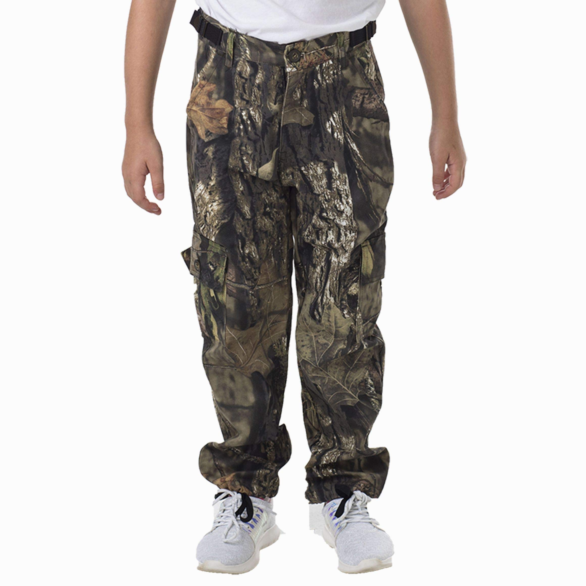 TrailCrest Youth Kids Camo Hunting Cargo Pants | 6 Pockets | Mossy Oak Break-Up Country by TrailCrest