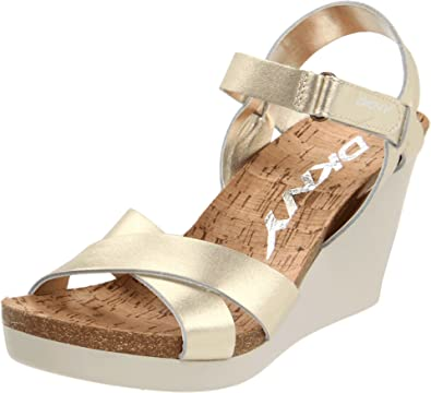 6192e99fd9b DKNY Gold 23120207 Women s Wedge Sandals Gold Metalic UK 8  Amazon ...