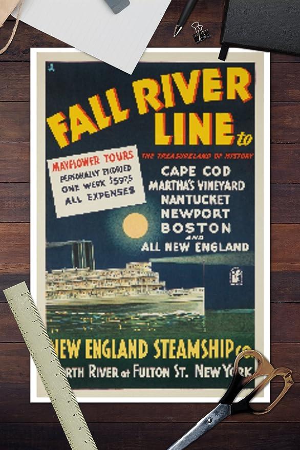 Amazon.com: Fall River Line (Long Island Steamer) Vintage ...