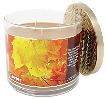 Amazoncom Bath Body Works Home Leaves Scented 3 Wick 145 Ounce