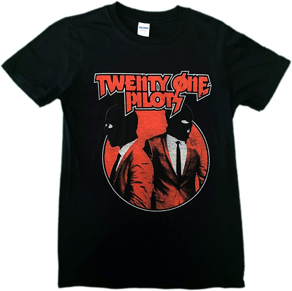 Twenty One Pilots Camiseta - para Hombre Negro Negro Medium: Amazon.es: Ropa y accesorios