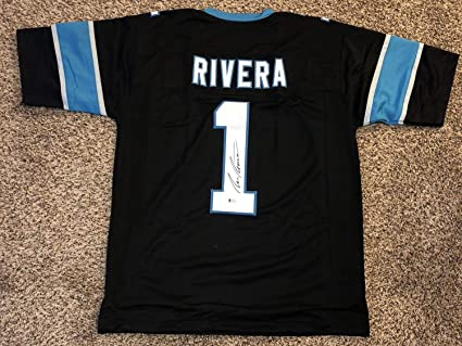 Image Unavailable. Image not available for. Color  Ron Rivera Autographed  Signed Carolina Panthers Jersey ... 9260ca14c