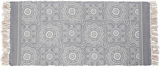 SHACOS Alfombras de algodón con borlas,alfombras Tejidas a Mano ...