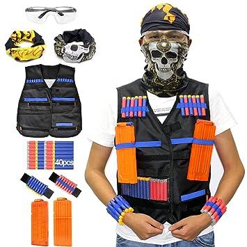 Hosim Tactical Vest Kit for Nerf Guns N-Strike Elite Series with 40 pcs  sc 1 st  Amazon.ca & Hosim Tactical Vest Kit for Nerf Guns N-Strike Elite Series with 40 ...