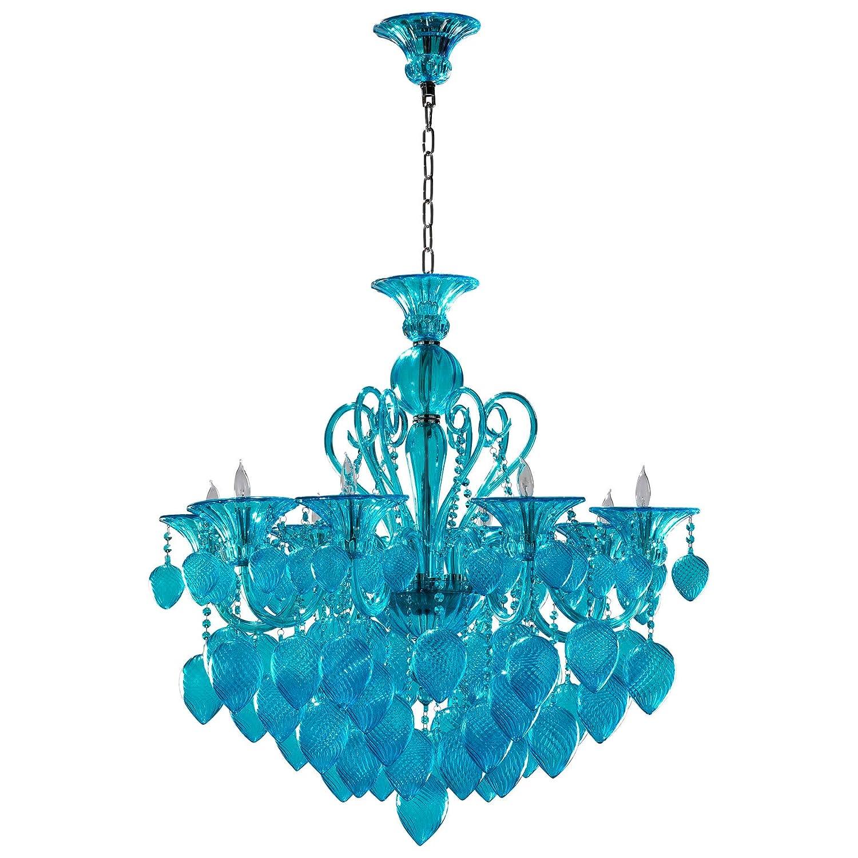 Cyan Design 04618 Bella Vetro Chandelier Blue//Cyan
