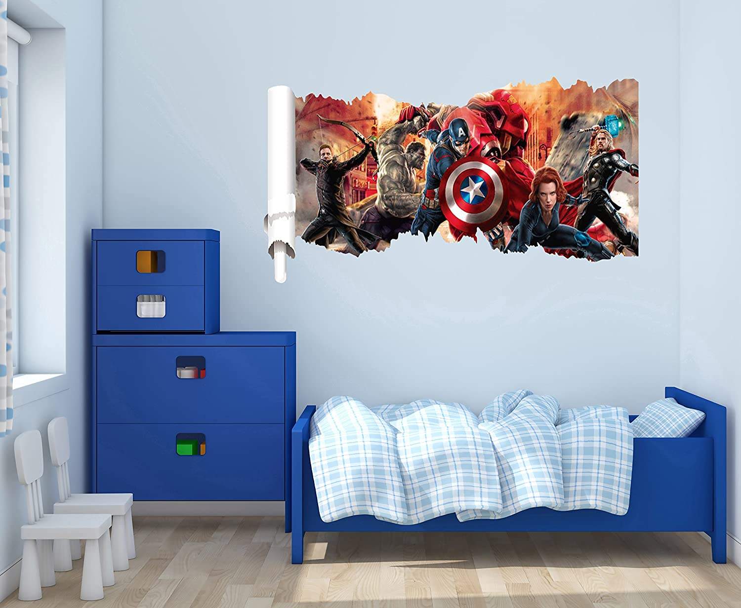 Amazon com the avengers 3d wall effect wall decal for home decoration wide 20x10 height inches home kitchen