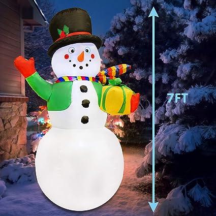 Amazon.com: Joiedomi 7 pies muñeco de nieve inflable con ...