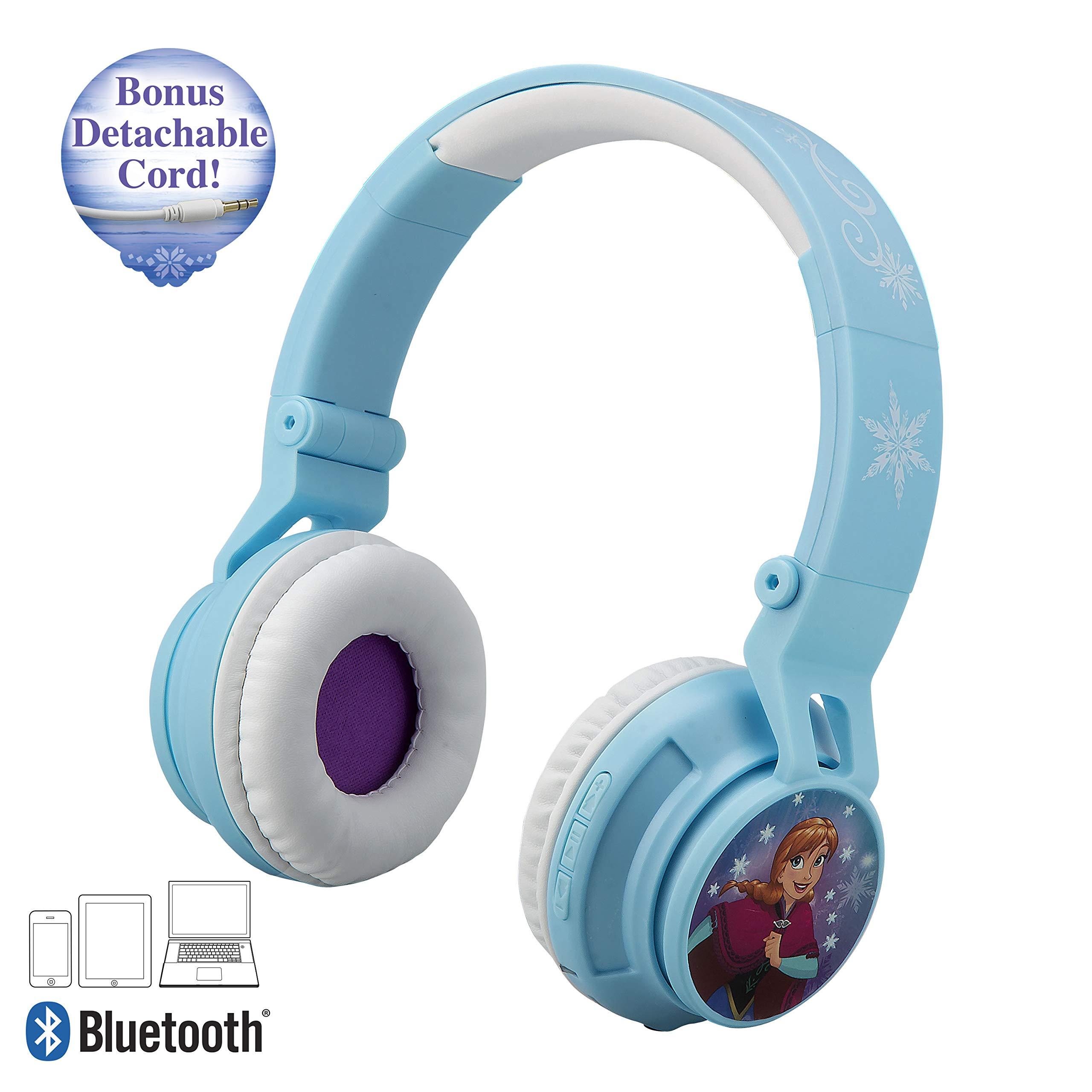 Frozen Bluetooth Headphones Disney Movie Wireless Kid Friendly Sound with Anna & Elsa Graphics