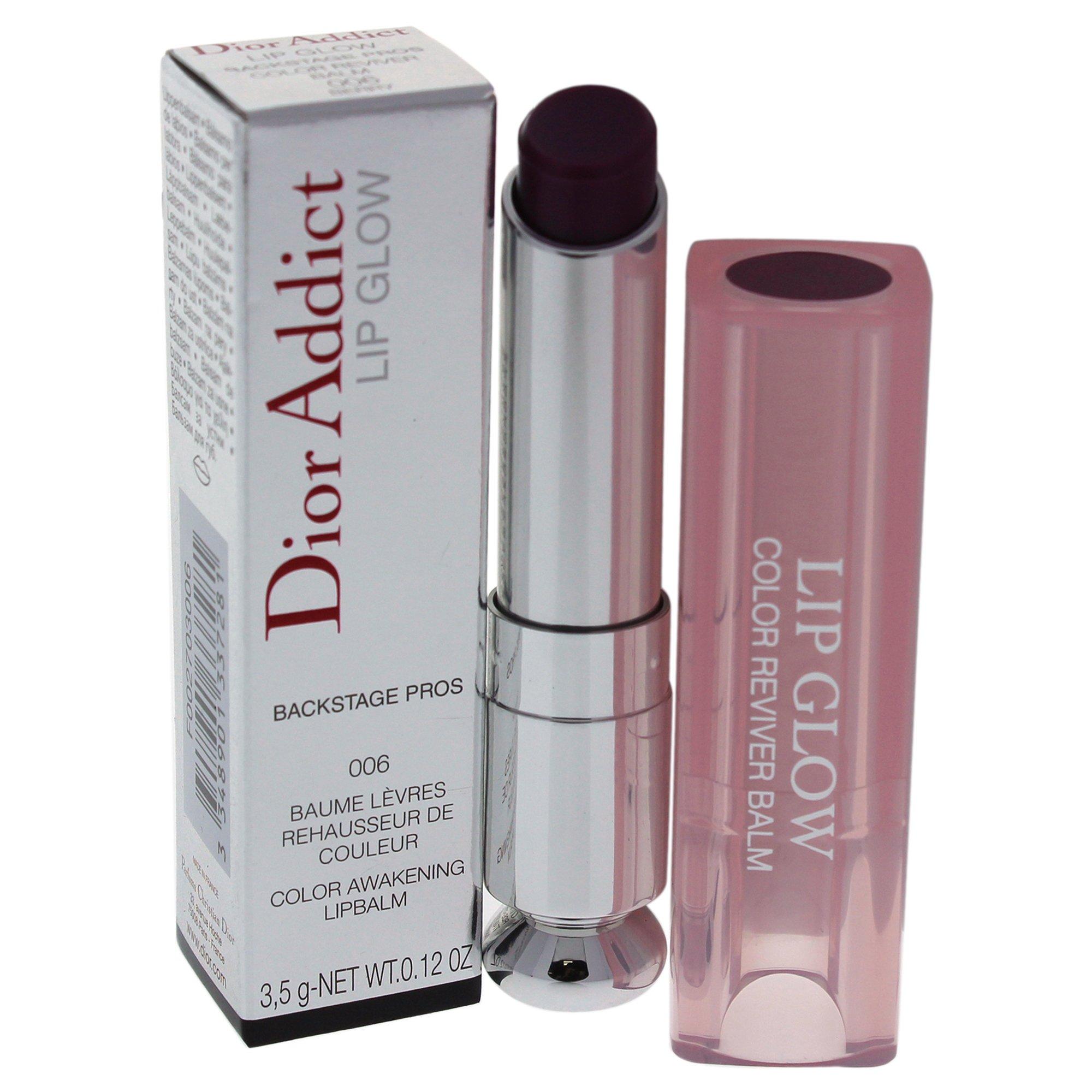 Christian Dior Addict Lip Glow Color Awakening Balm, Berry, 0.12 Ounce
