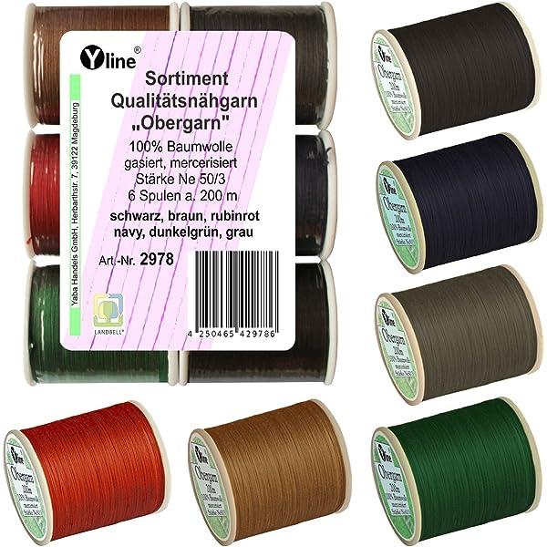 /hilo exterior hilo Varios Surtido 200/m calidad/ 100/% algod/ón para la m/áquina de coser 9/Bobinas A 2977 Colores est/ándar Ne 50//3