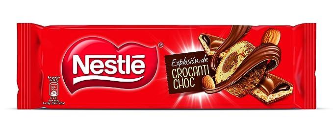 Nestlé Chocolate con leche relleno de crema de cacao y leche sabor a vainilla con almendras