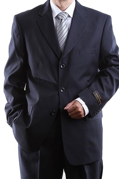 Amazon.com: Para hombre de una hilera tres botones azul ...