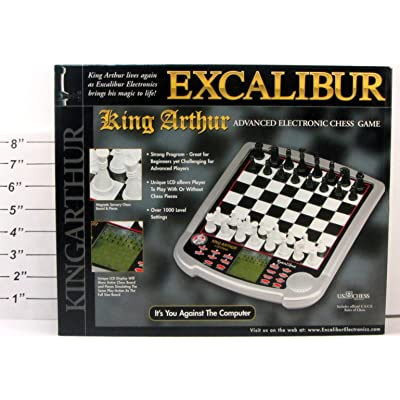 Excalibur King Arthur Advanced Electronic Chess Game: Toys & Games