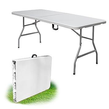 Faltbarer Campingtisch.Krollmann Faltbarer Campingtisch In Weiß Klappbarer Tisch