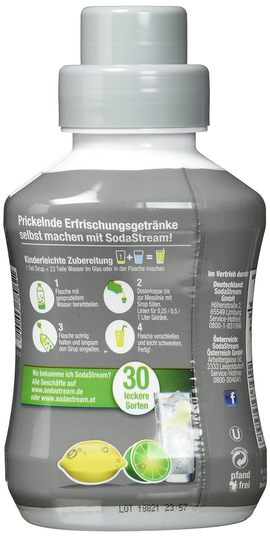 Sodastream Sirup Zitrone-Limette - ohne Zucker, 2er Pack (2 x 500 ml ...