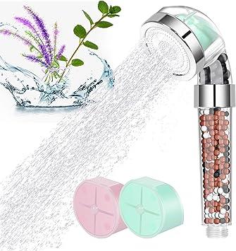 Filtered Shower Head Chlorine Filter /& Hard Water Softener Best Shower Head Purifier Filtration System for Hair /& Skin Chrome High Pressure Shower Head Filter with Ionic Shower Water Filter