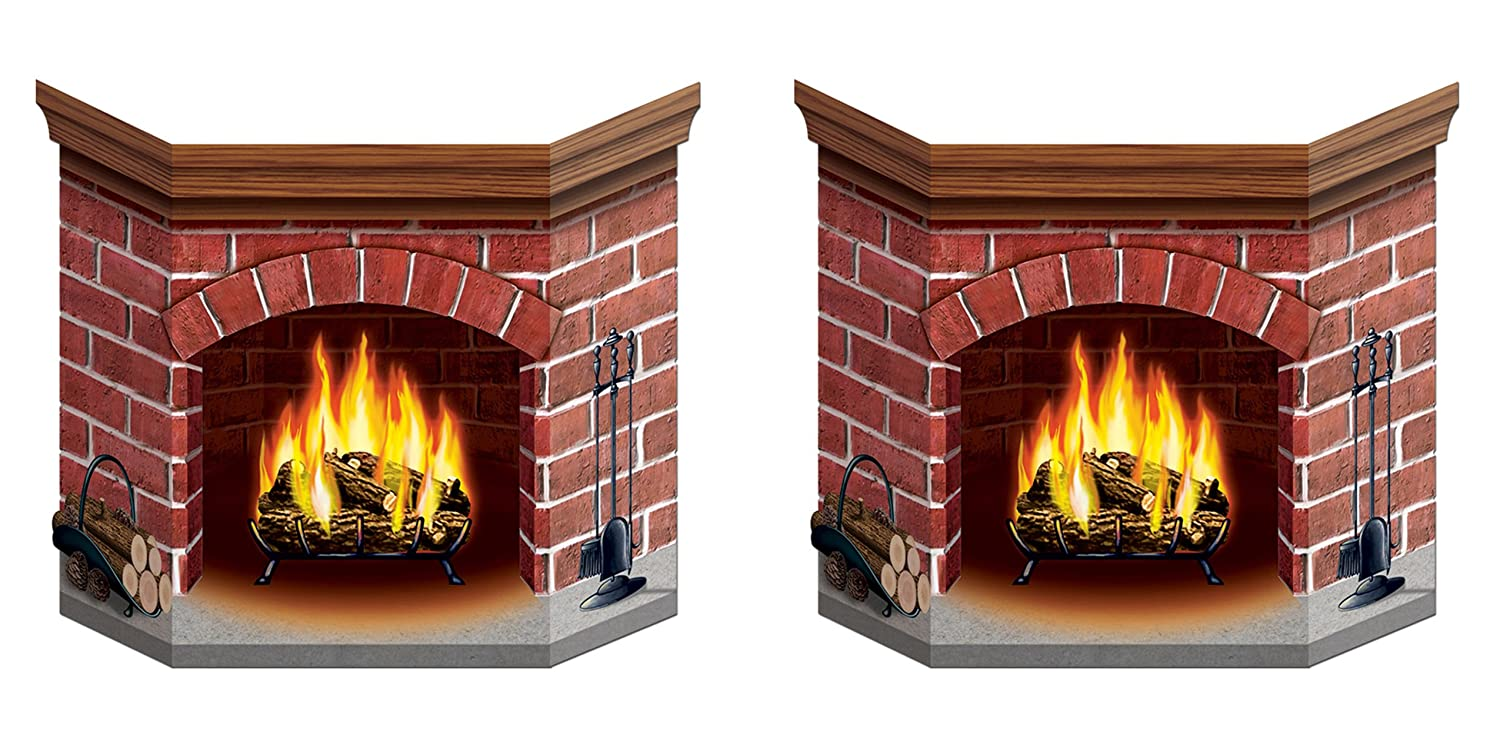 amazon com brick fireplace stand up party accessory 1 count 1