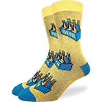 Good Luck Sock Men's Extra Large Six Pack of Beer Socks, Size 13-17, Big & Tall