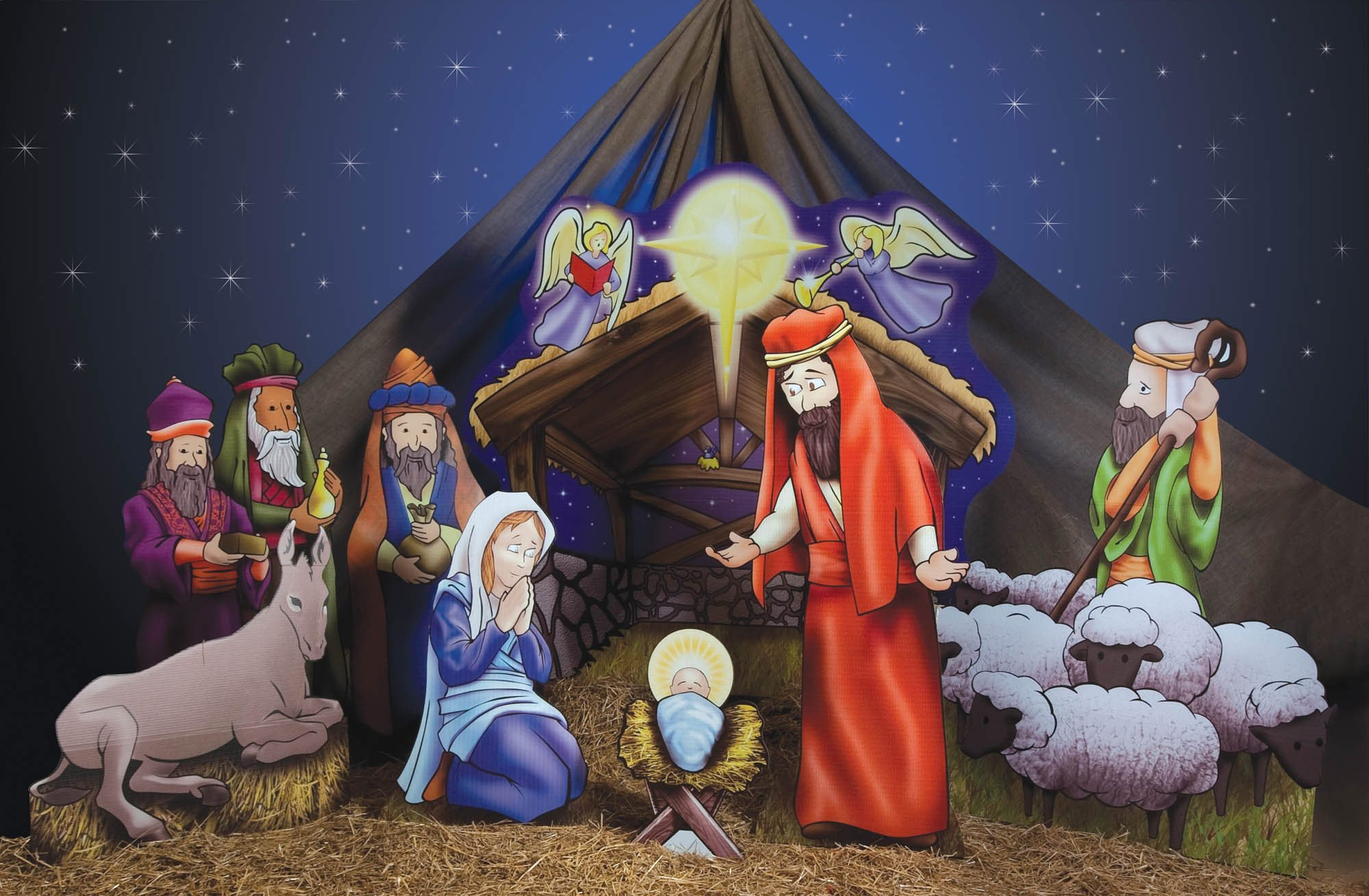 Christmas Nativity Scene Props by Shindigz (Image #1)