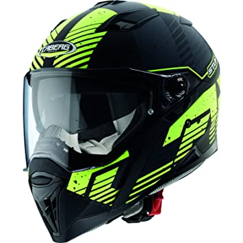 Caberg Stunt Blizzard Motorcycle Helmet S Matt Black Yellow Fluo