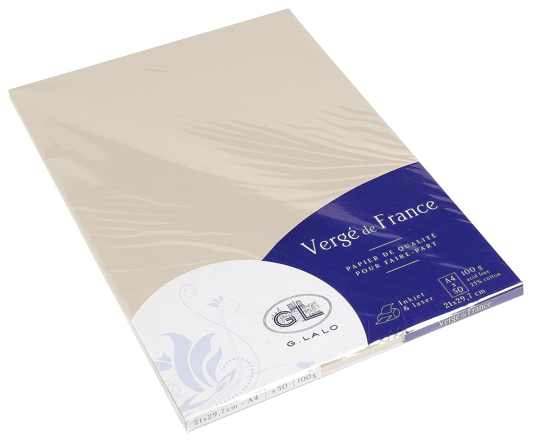 Lalo 43316L Foglio di Carta Vergata, 29.8 x 21 x 1 cm, Avorio