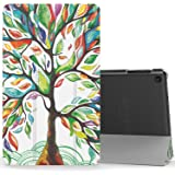 MoKo Case for Fire HD 8 2016 Tablet - Ultra Lightweight Slim shell Stand Cover with Translucent Frosted Back for Amazon Fire HD 8 (Previous 6th Generation - 2016 Release ONLY), Lucky TREE