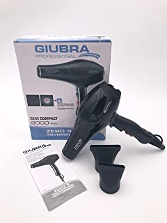 Giubra Professional secador pelo Zero 9 Tourmaline | Potencia 2000 W), Black