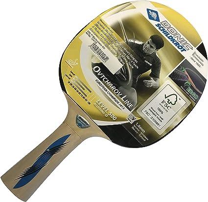 4 Stück Donic Tischtennis Schläger Level 300 mit 1 TT-Ball Schildkröt Joola