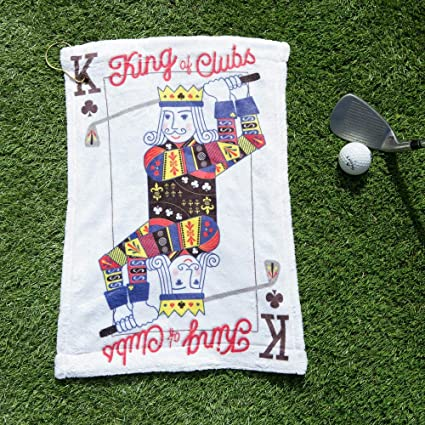 Notjustaprint King of Clubs - Juego de Cartas de Golf, Toalla de Golf Personalizada,
