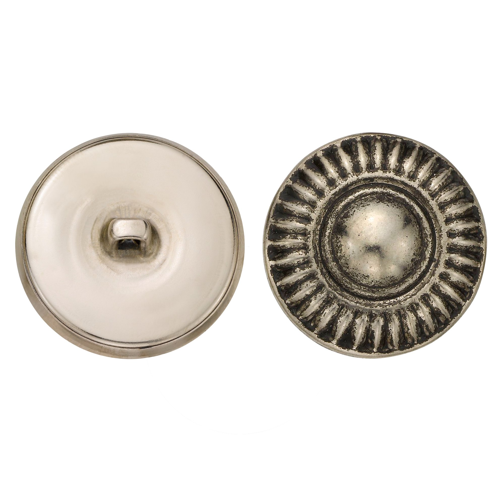 C&C Metal Products 5079 Modern Daisy Metal Button, Size 45 Ligne, Antique Nickel, 36-Pack