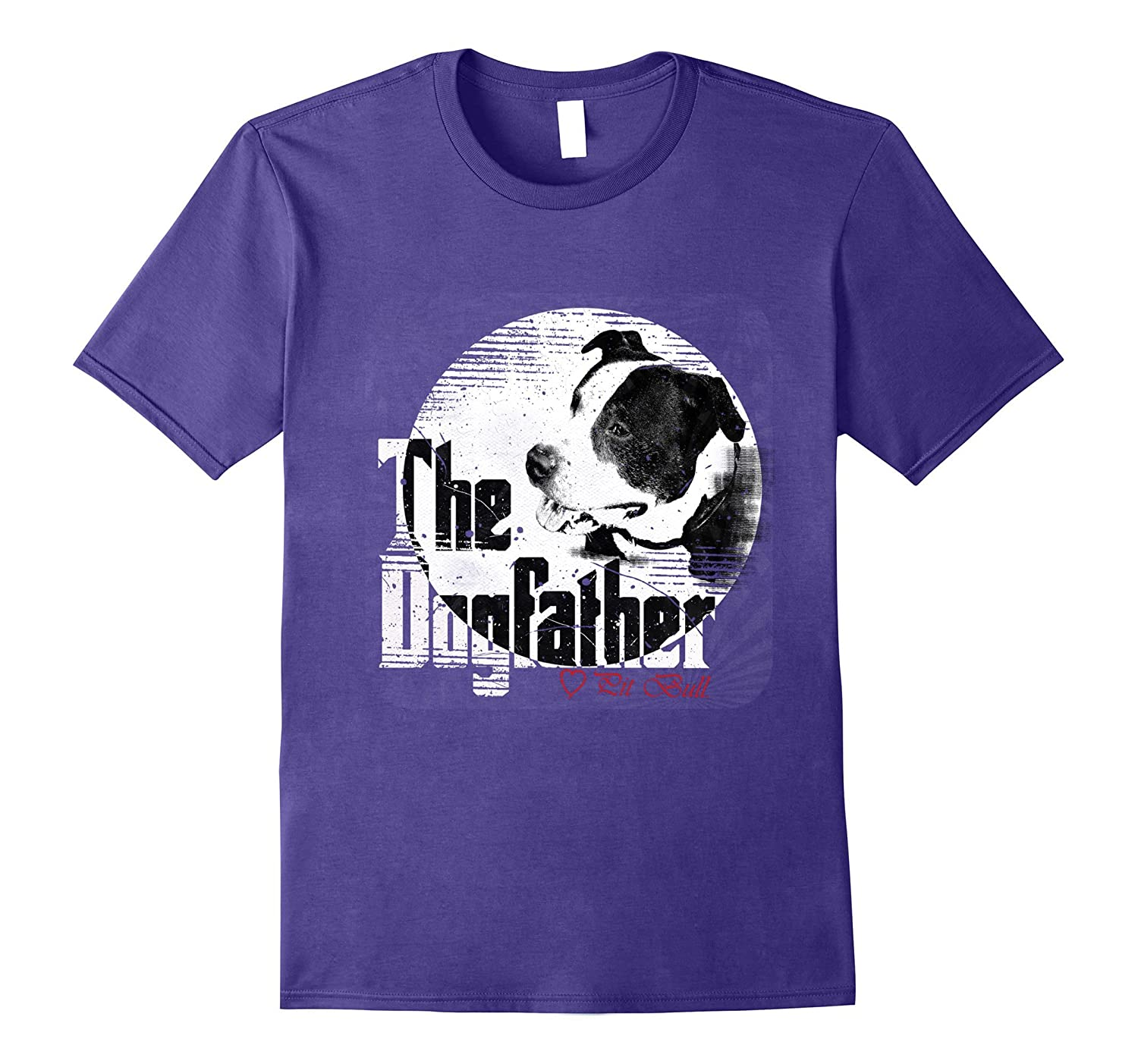 89fe9db7 Mens The Dogfather Shirt | Pitbull Dad Dog Tee| Father's Day Gift-ANZ