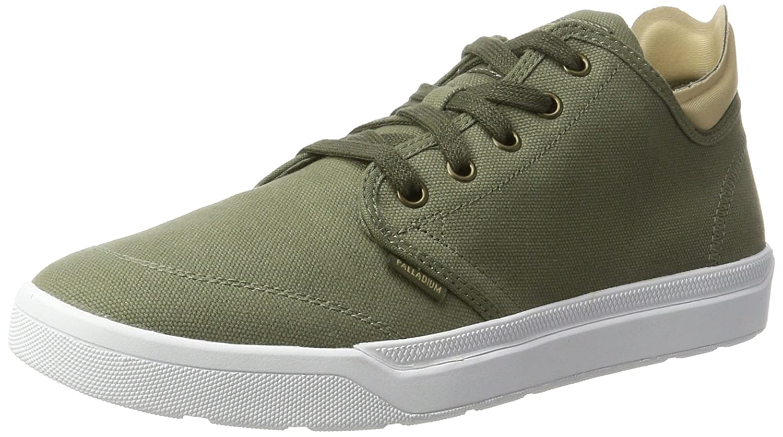 Palladium Herren Desrue Low Sneaker  41 EU Grau (Moon Mist/Sand/White)