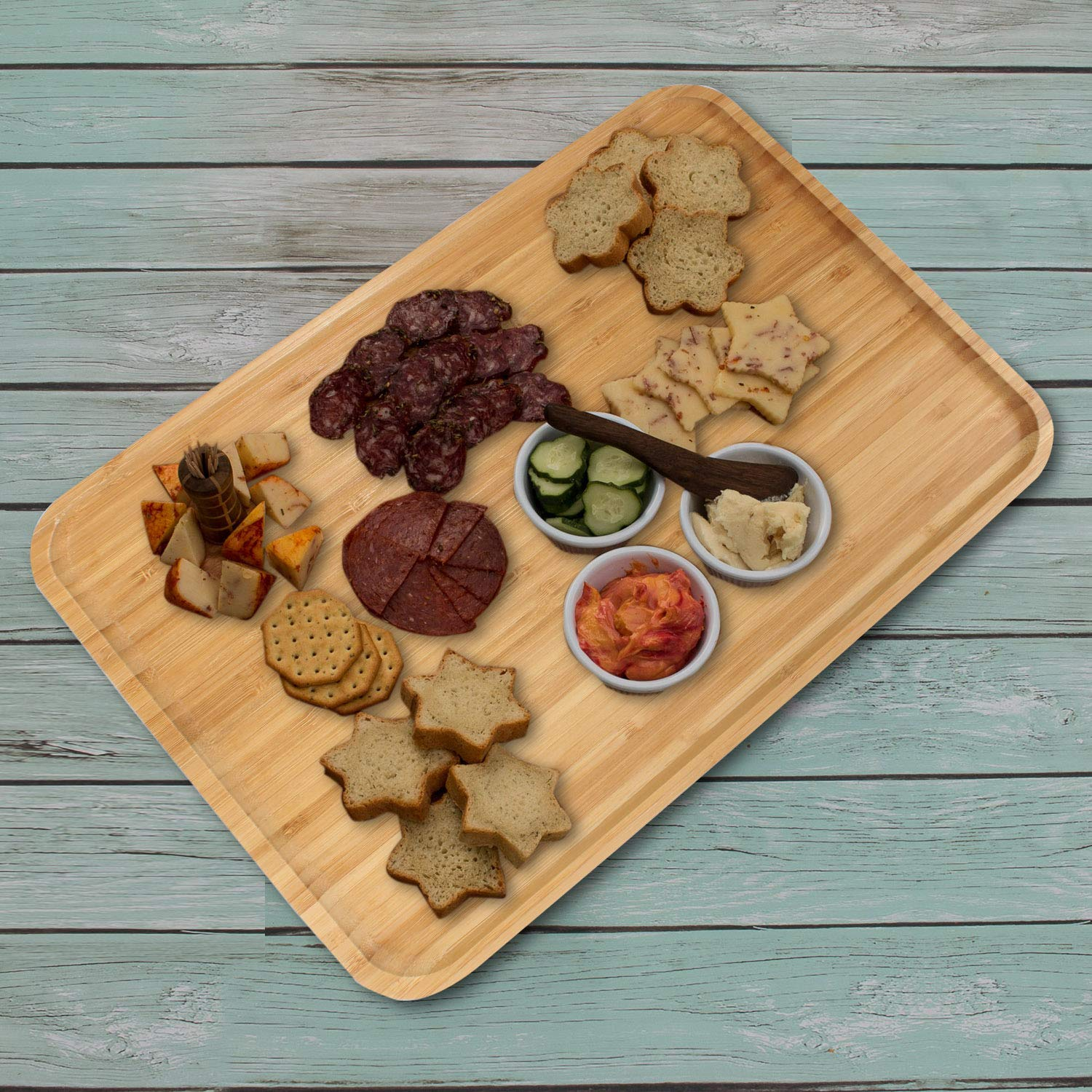 Wooden Bamboo Serving Tray